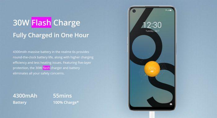 realme 6s Flash Charge