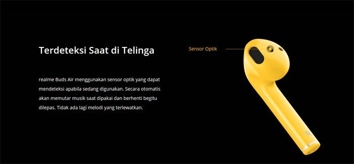 realme Buds Air Kuning Optik