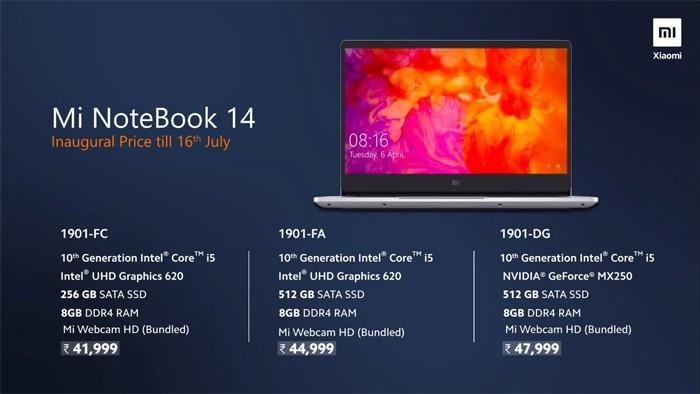 Mi Notebook 14 Standard Price