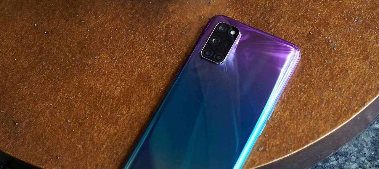 OPPO A92 Aurora Purple Back