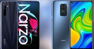 Perbandingan Redmi Note 9 vs realme Narzo Header