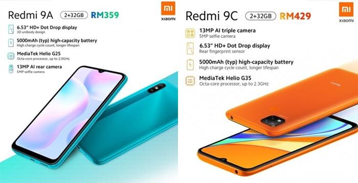 Redmi 9A 9C