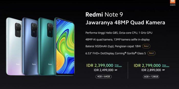 Redmi Note 9 Harga