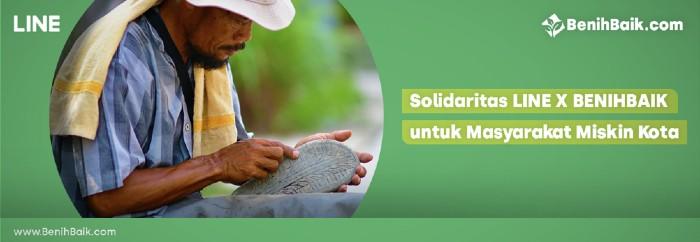 Solidaritas LINE BENIHBAIK untuk Masyarakat Miskin Kota