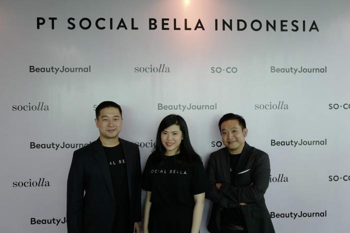 CoFounder Social Bella Indonesia - John Rasjid, Chrisanti Indiana dan Christopher Madiam.j