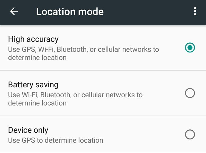 GPS Location Mode