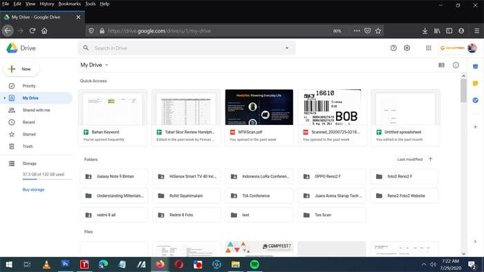 Google Drive Main Page