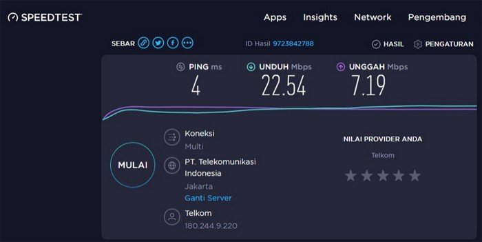 Indihome Paket Gamer SpeedTest