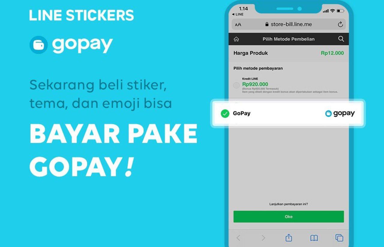 Cara Membeli LINE Stickers dengan GoPay Header