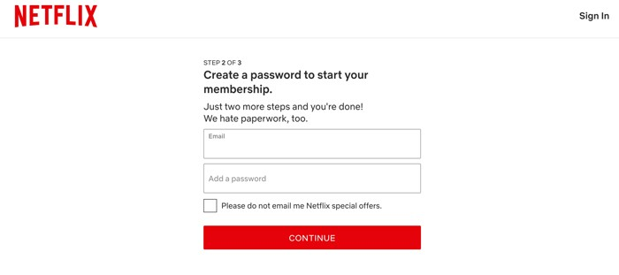 Netflix 4 Email Password