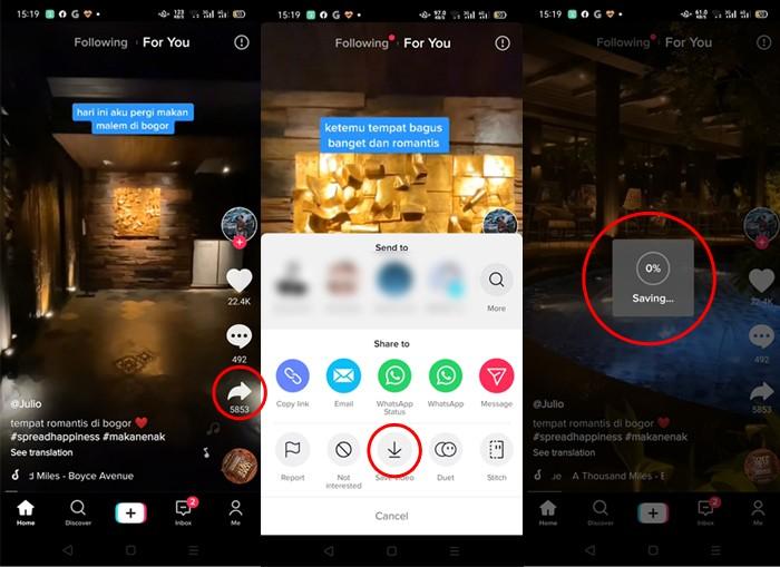 Cara Download Video TikTok Langsung Dari Aplikasi