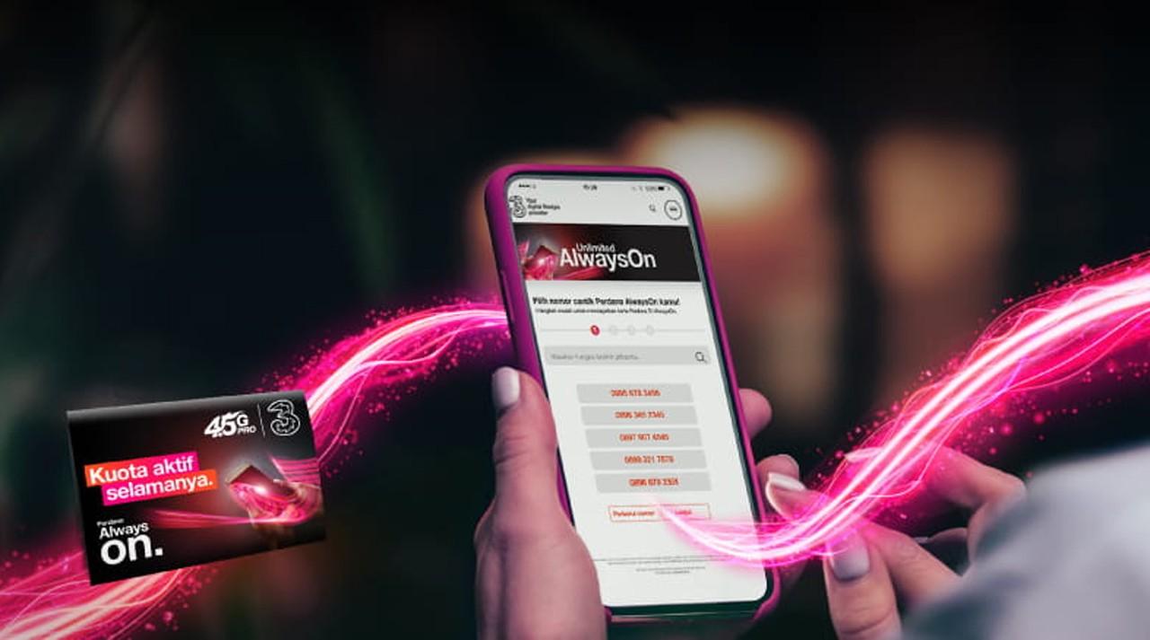 Tri Kartu Perdana Online Feature