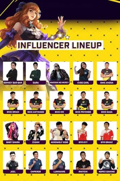 influencer lineup NMA