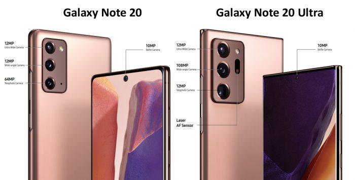 Perbedaan kamera Galaxy Note 20