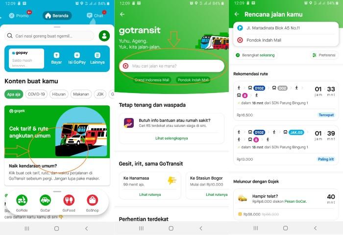 Cara Menggunakan GoTransit Gojek