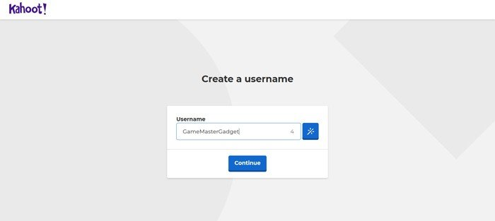 Kahoot Create Username Account