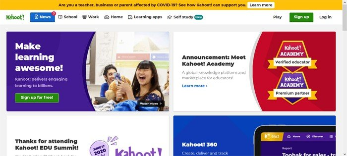 Kahoot Sign Up