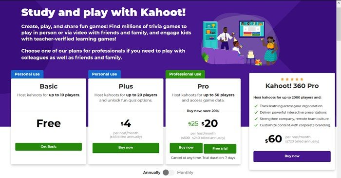 Kahoot Type User