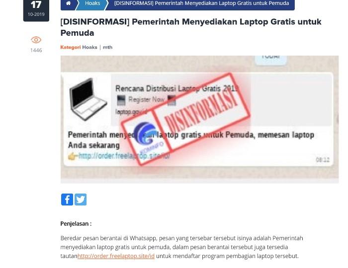 Kominfo-Disinformasi-Pesan-berantai-laptop-gratis-17-Oktober-2019