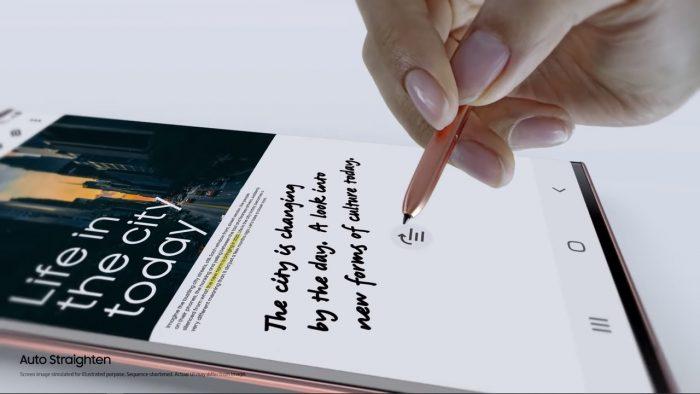 Samsung Galaxy Note20 Auto Straighten