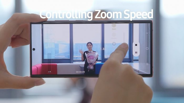 Samsung Galaxy Note20 Controlling Zoom Speed
