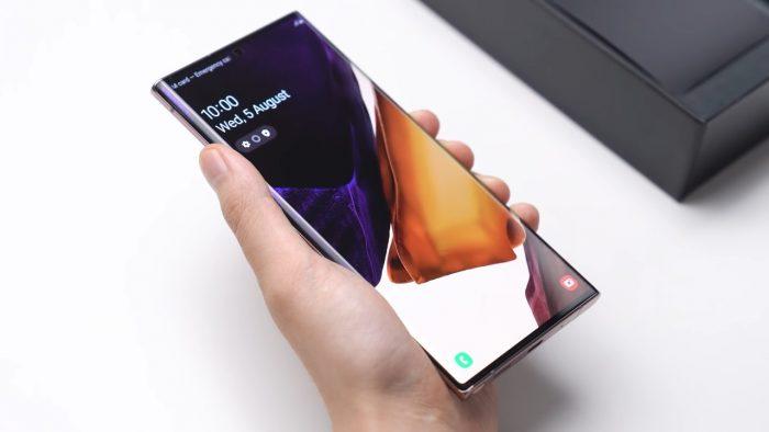 Samsung Galaxy Note20 Layar Depan