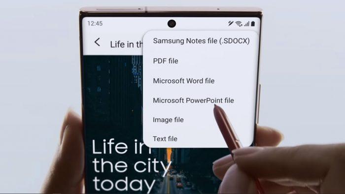 Samsung Galaxy Note20 S Pen PDF