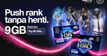 Tri-Indonesia-Rilis-Kartu-Perdana-H3RO-untuk-Push-Rank-Lebih-Maksimal-Header.