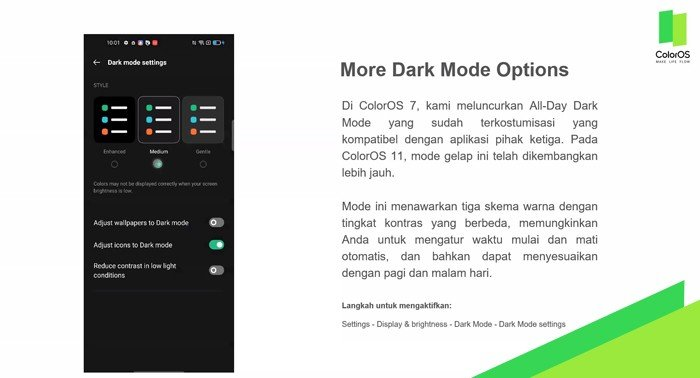 ColorOS 11 Dark Mode