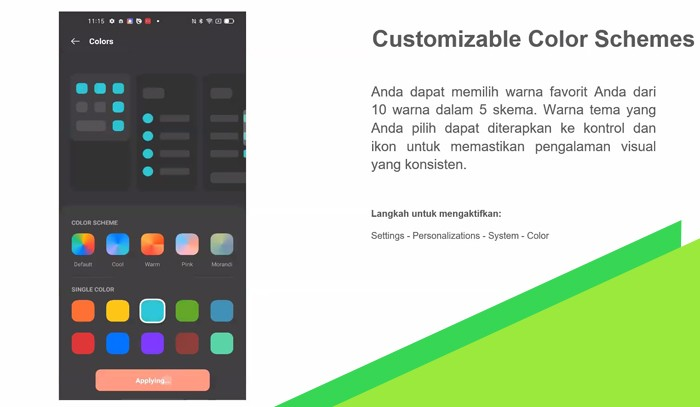 ColorOS 11 Warna Kustomisasi