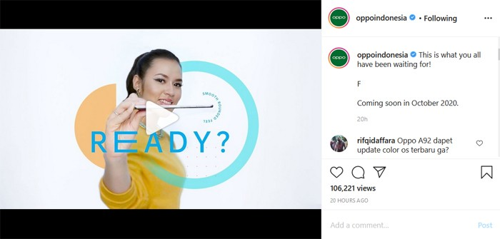 OPPO F Instagram