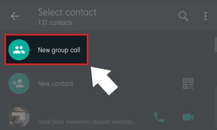 Cara Video Call Whatsapp Lebih Dari 4 Orang - 2