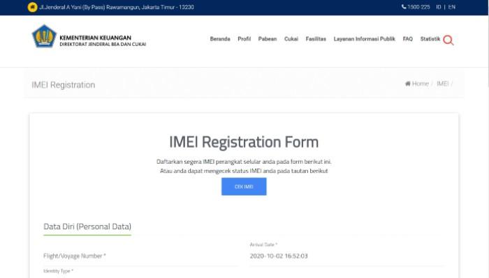 IMEI-Registration-Form