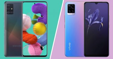 Samsung Galaxy A51 Vs vivo V20 Header