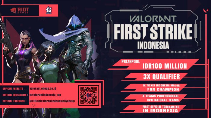 Poster Valorant First Strike Indonesia
