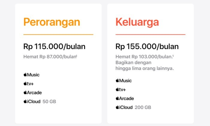 Apple One - Paket