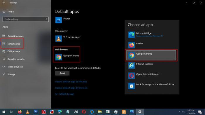 Default Browser Chrome