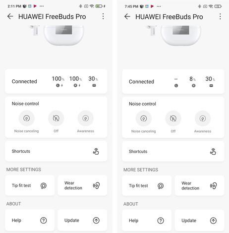 HUAWEI FreeBuds Pro Baterai
