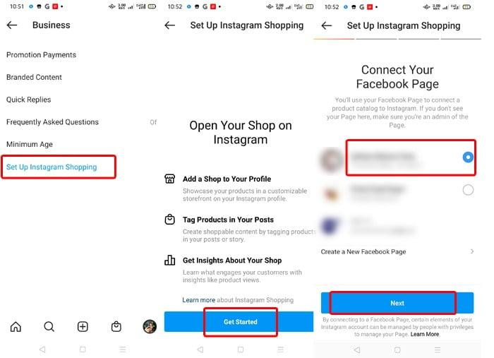 Langkah-langkah berbelanja Instagram