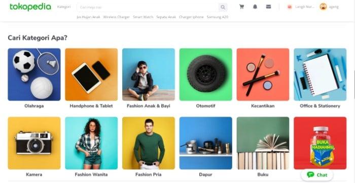 Kategori-Tokopedia-Website