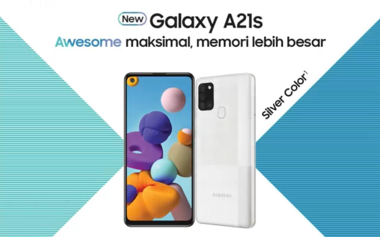 Samsung Galaxy A21s Silver Header