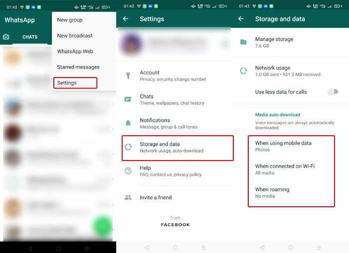 WhatsApp Storage and Data
