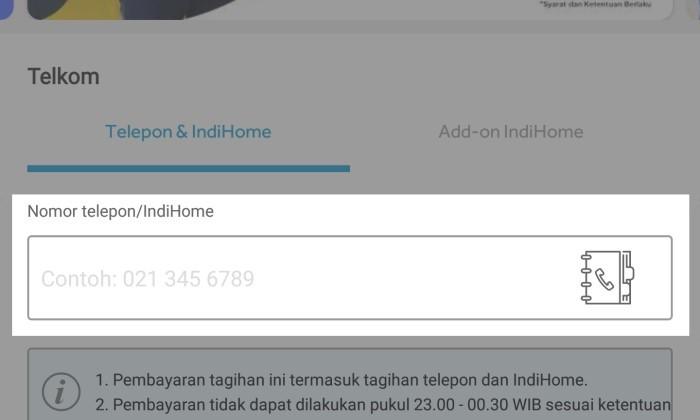 Nomor Pelanggan Faktur BliBli IndiHome