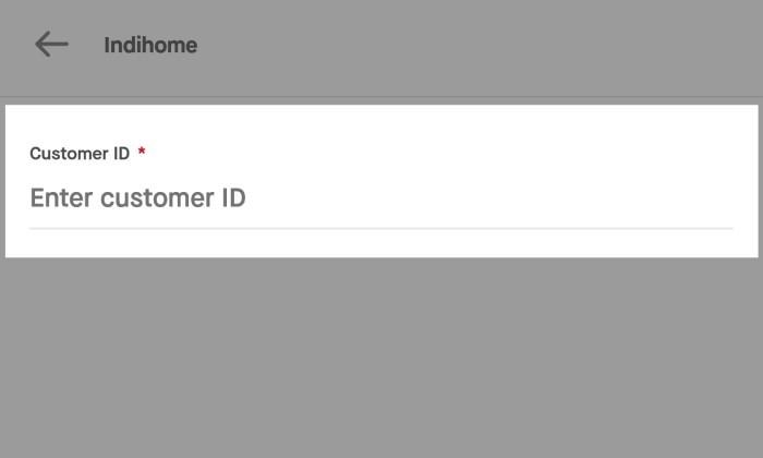 Tagihan ID Pelanggan Indihome GoJek