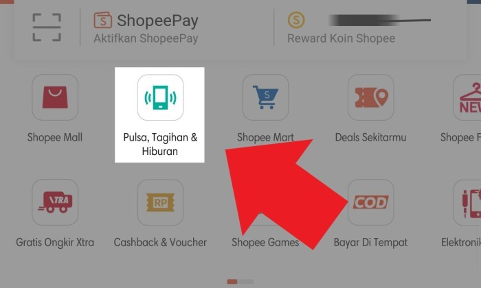 Tagihan IndiHome Shopee
