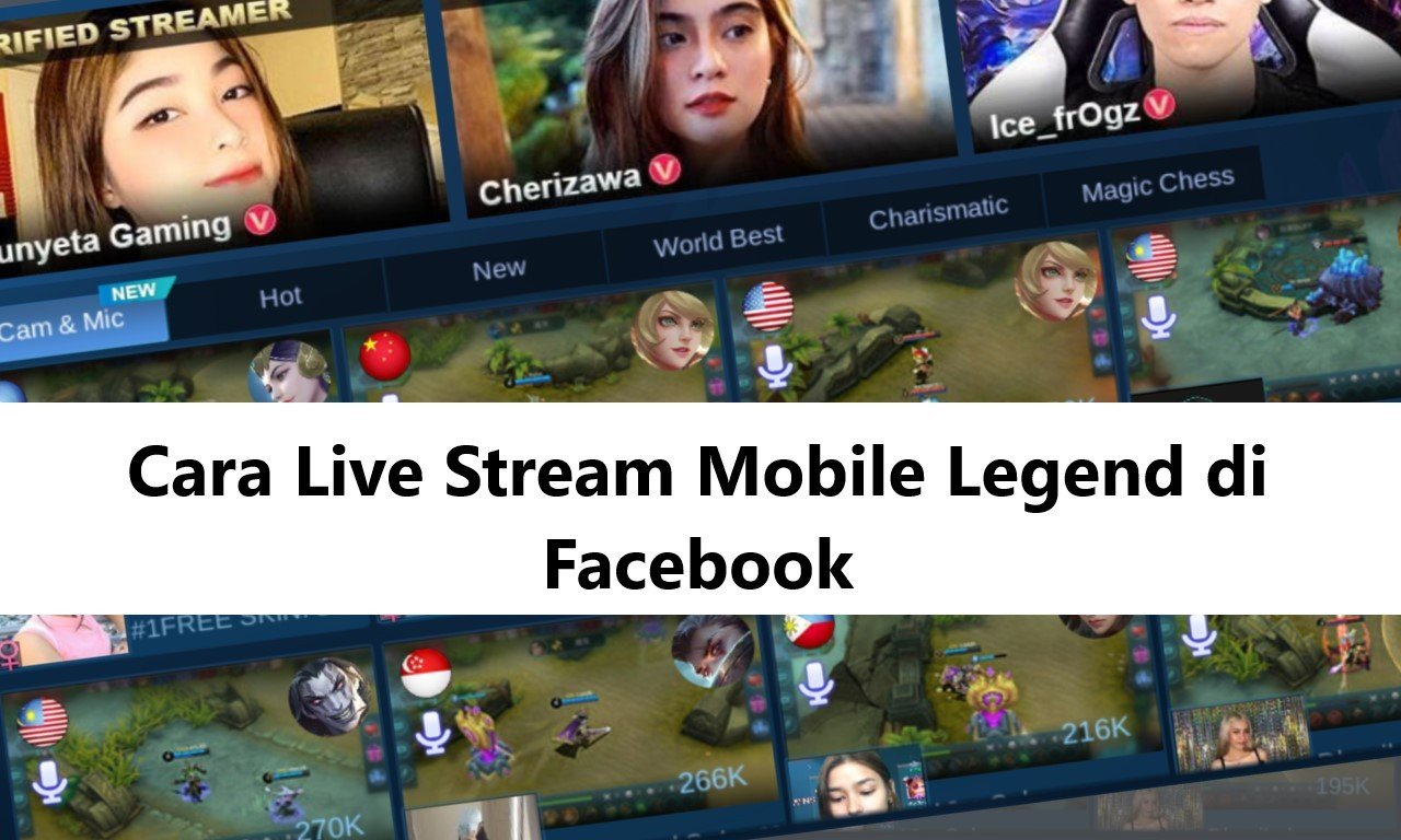 Cara Live Mobile Legends di FB Header