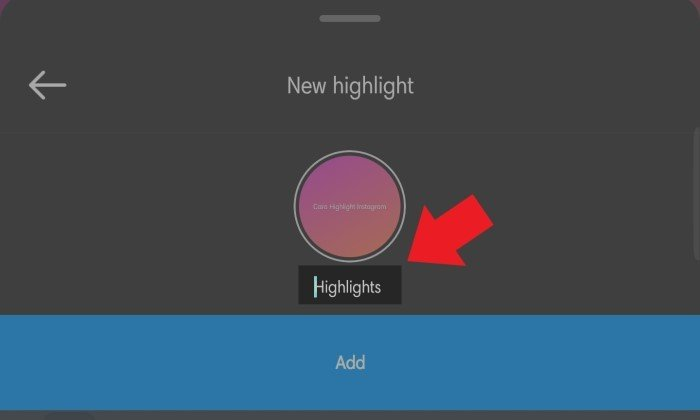 Cara Membuat Highlight Instagram - 3