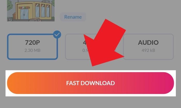 InShot Video Downloader Mulai Unduh