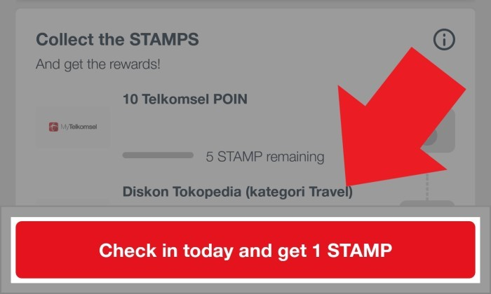 Daily Check In Telkomsel Stamp