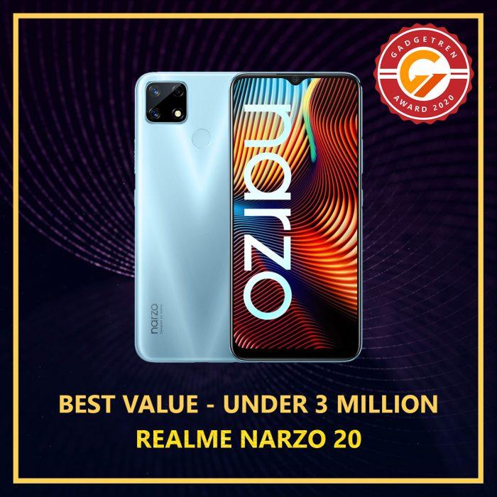 Gadgetren Award - Best Value 3 Million 2020